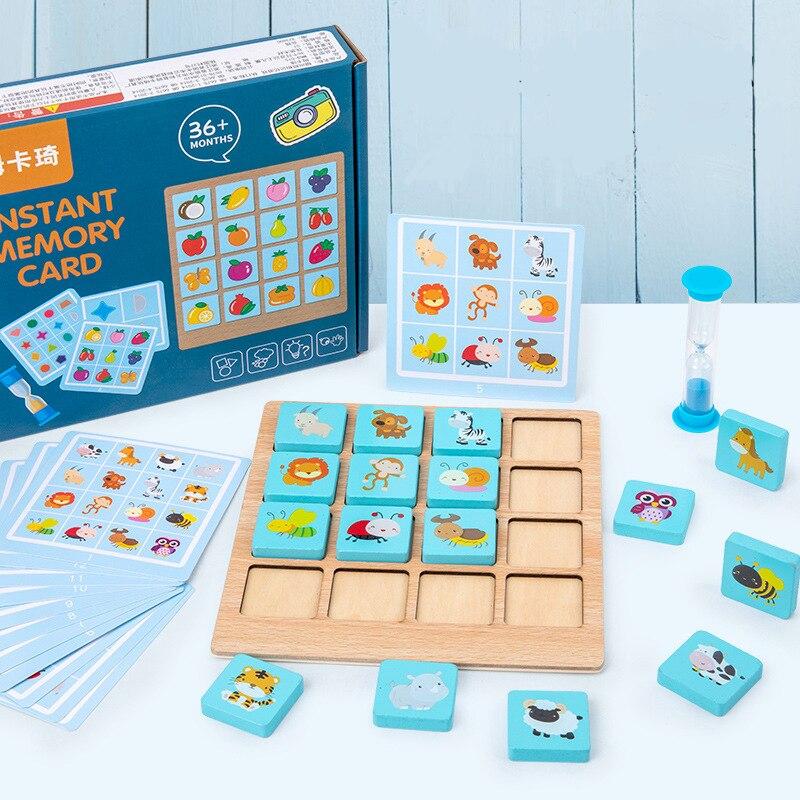 Детская деревянная головоломка настольная игра мгновенная фотопамять шахматы детская головоломка Монтессори детские подарки