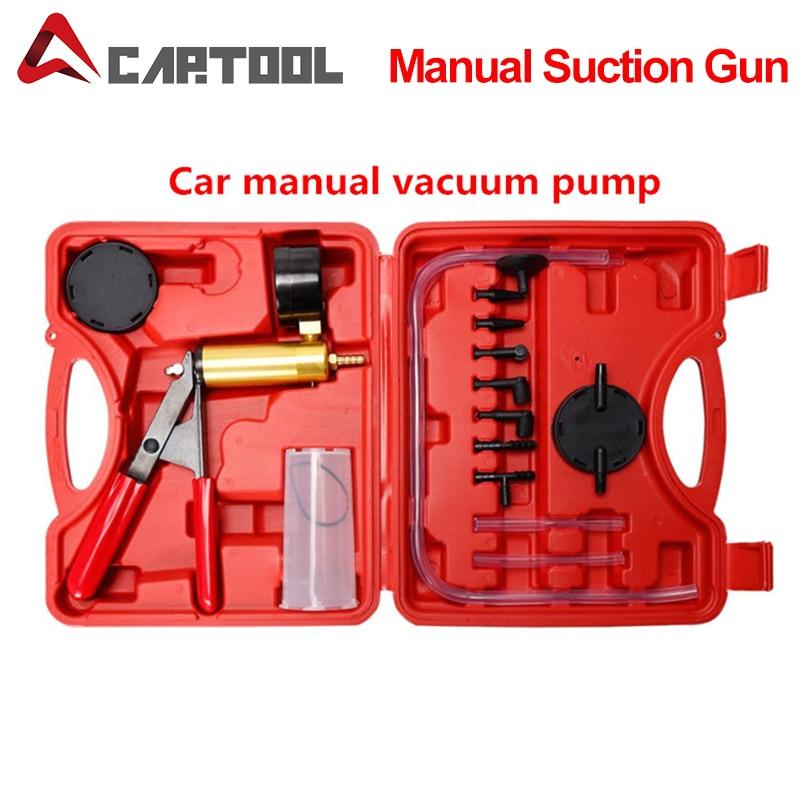 Pistola de vácuo para carros, reservatório para fluido, adaptador de sangria de freio, kit 2 em 1