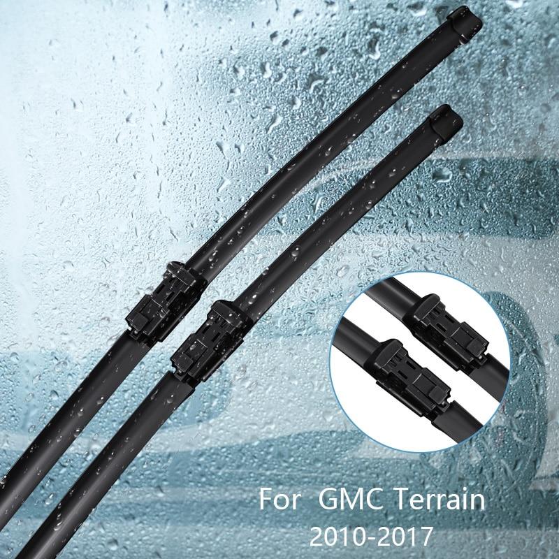 Wipers Blade For  GMC Terrain 2010 2011 2012 2013 2014 2015 2016 2017 Car Accessories For Auto Rubber Windscreen Wiper