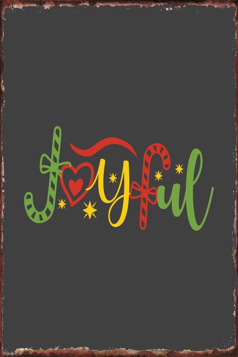 Рождественские жестяные тарелки, Настенный декор, украшение для комнаты, Ретро винтажный металлический знак, жестяной знак, искусство для м...