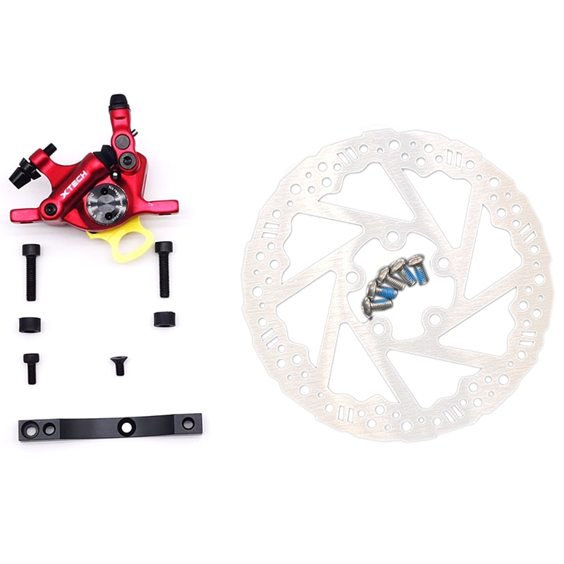 New Upgrade Hydraulic Brake for Xiaomi M365 Electric Scooter Disc Brake System Set(Red)
