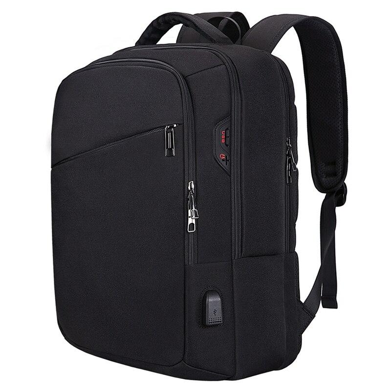 حقيبة ظهر للكمبيوتر المحمول ، حقيبة متينة مقاومة للماء ، حقيبة ظهر للكمبيوتر المدرسي للكلية مقاس 15.6 بوصة (رمادي)