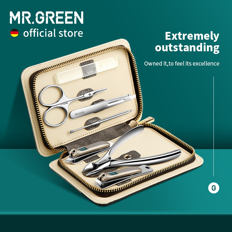 MR.GREEN Manicure Set Color Contrast sets Nail Clippers Cutter Tools Kits Stainless Steel Pedicure T
