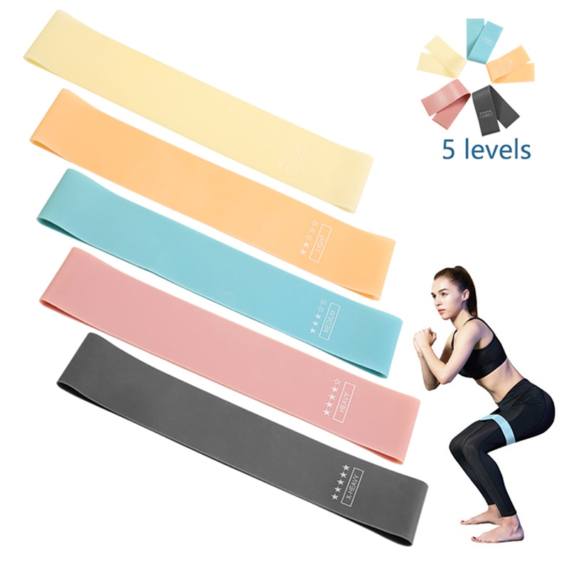 yoga rubber fitness bands training fitness gym exercise gym home strength resistance bands sport crossfit workout equipment Resistance Bands Fitness Gum Exercise Gym Strength Workout Elastic Bands For Fitness Mini bands Yoga Crossfit Training Equipment