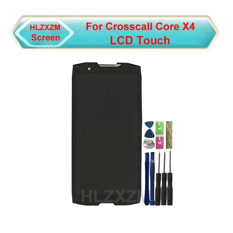 ل Crosscall النواة X4 LCD عرض مع شاشة تعمل باللمس محول الأرقام الجمعية استبدال مع أدوات + 3M ملصقا