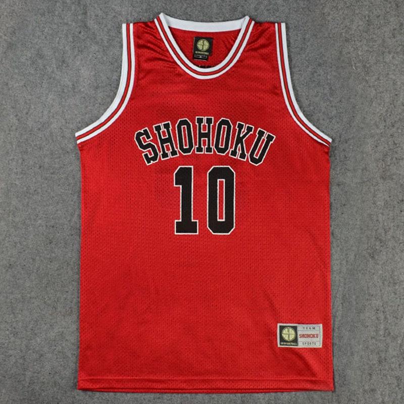 TaoBo SLAM دونك تأثيري ازياء عدد 10 أكمام كرة السلة جيرسي قمم M-XXL Shohoku المدرسة كرة السلة فريق جيرسي Rukawa