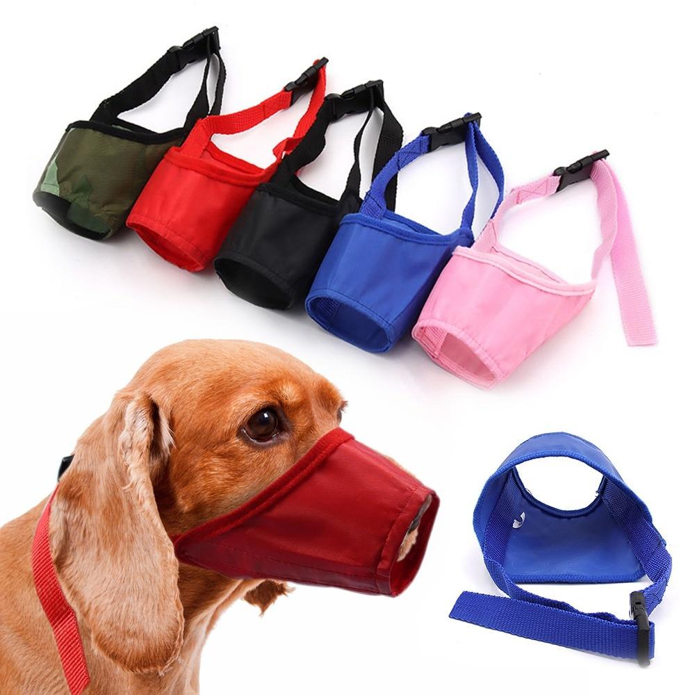 Pet Dog Verstelbare Masker Mesh Ademend Snuiten Kleine Grote Hond Mond Snuit Anti Bark Bite Chew 1Pc Hond Training Producten