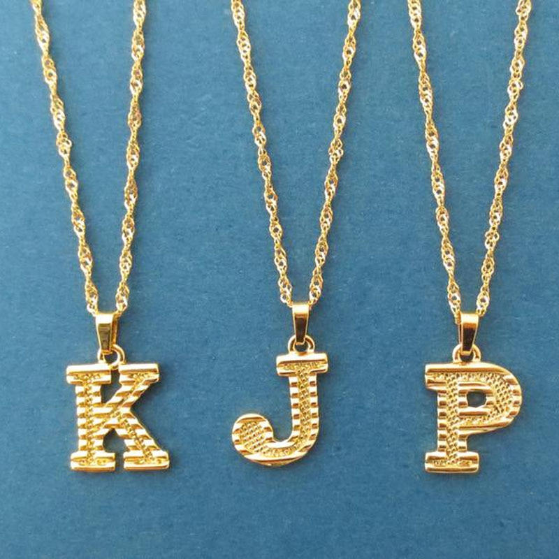 Collier Femme 2020 Capital Letter Neckaces For Women Boho Jewelry Stainless Steel Alphabet Initial N