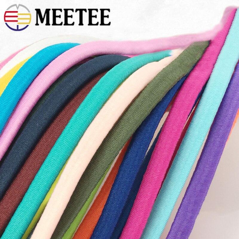 Эластичные ленты Meetee 5/10/20 м 5 мм, толстые эластичные ленты для ноутбука, резинки для самостоятельного изготовления волос, браслеты для шитья ювелирных изделий
