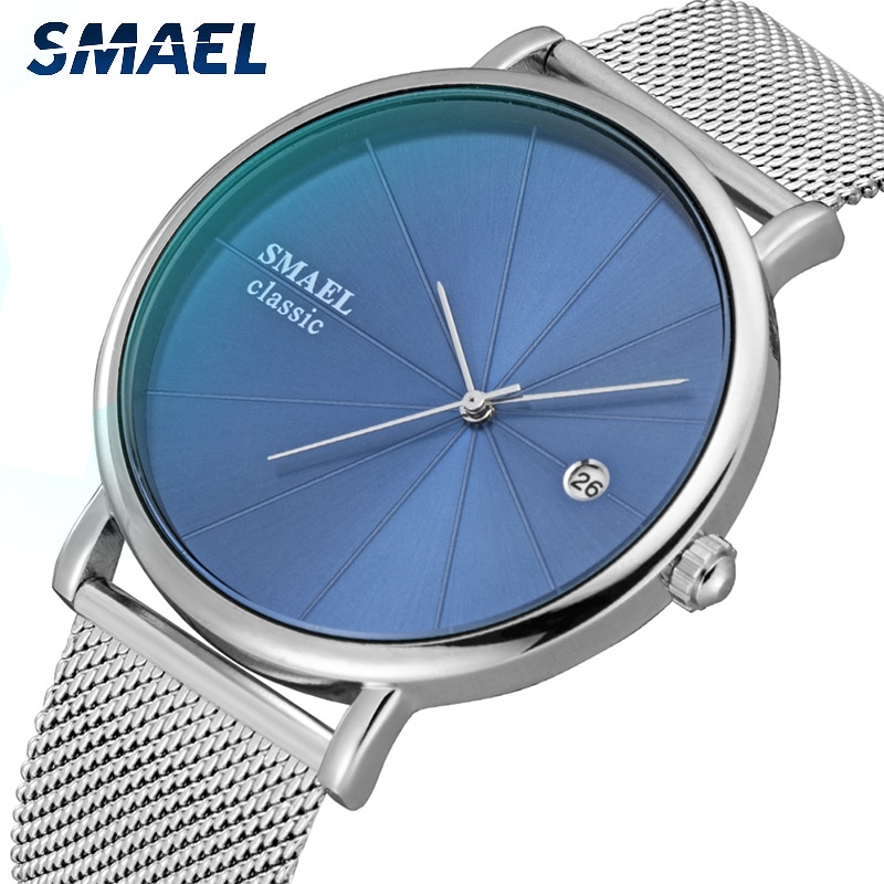 SMAEL 9129 Men Fashion Watch Quartz Sport Casual Full Steel Wrist watch Analog Quartz Wristwatches Watches Relogio Masculino