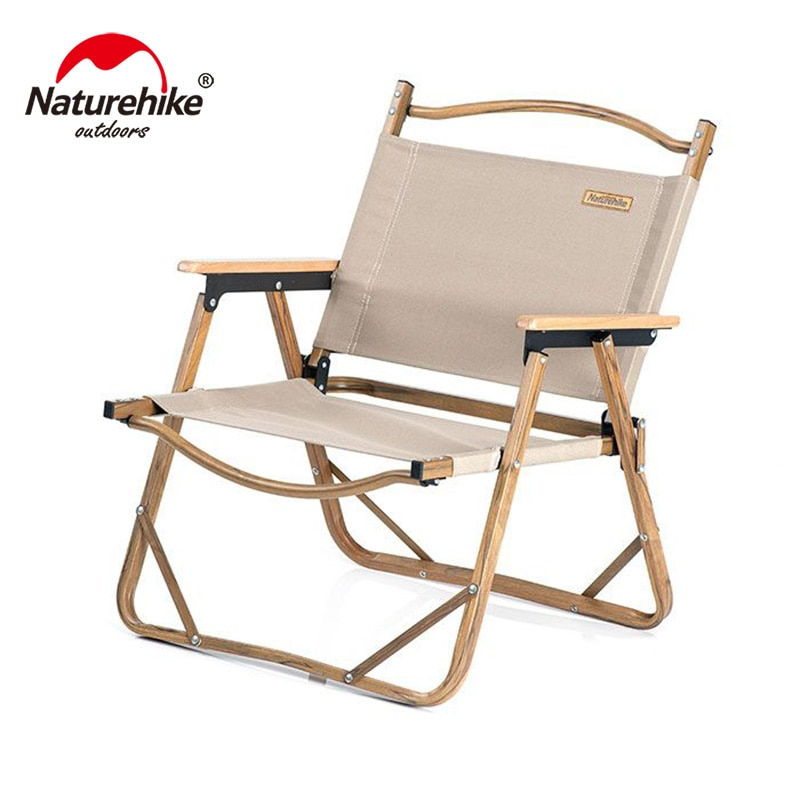 Naturehike Folding Portable Camping Chair Wood Grain Comfortable Wear-Resistant Fishing Leisure Travel Chair NH19Y002-D