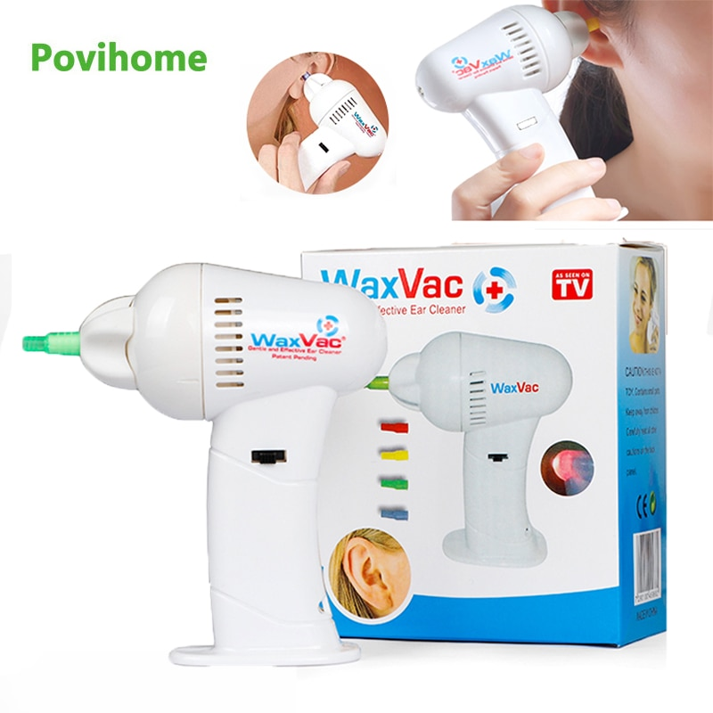 Portabler Electric Ear Cleaner Product Vacuum Ear Wax Earwax Removal Soft Safety Head Ear Care Tool