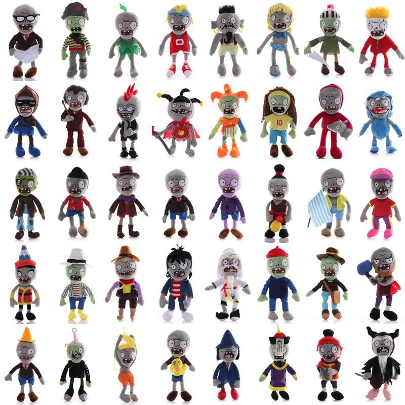 1pcs 30cm Plants vs Zombies PVZ Plush Stuffed Toys Cute 41 Styles PVZ Zombies Cosplay Plush Toy Doll
