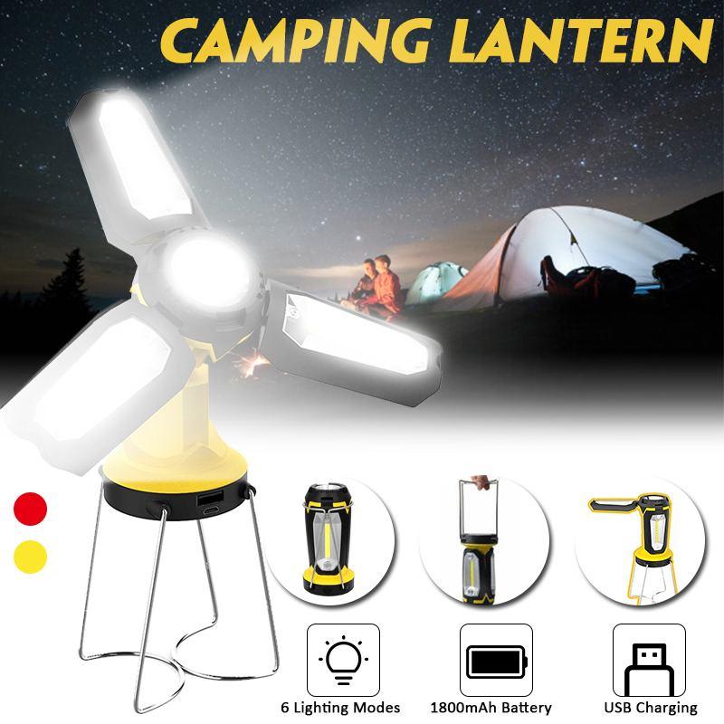 Linterna portátil COB, lámpara LED de Camping, deformación, lámpara recargable para tienda, lámpara Led de Camping ligera Ultra brillante
