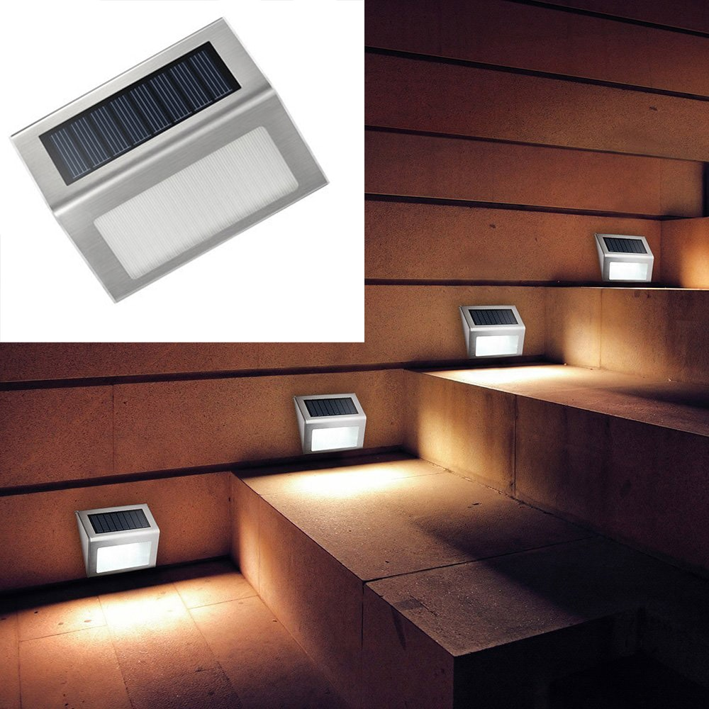 Solar Power 3 Leds Lamp Waterproof Led Wall Light for Outdoor Garden Pathway Stairs Light Energy Saving LED Solar Landscape Lamp