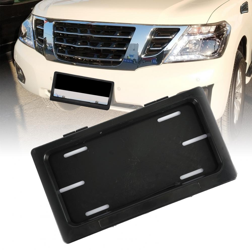 2Pcs Front Rear Roller Shutter Hide-away Electric Remote License Plate Frame Holder Privacy Protection for Middle Eastern Car