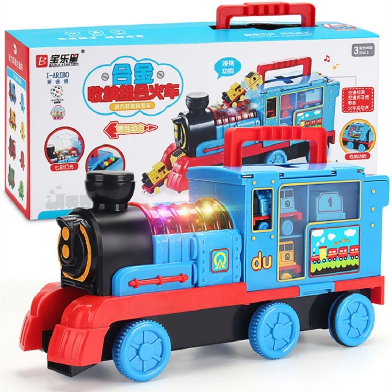 LEGAOTHOMAS Little train track set inertial alloy electric children toy 3-6 years old 2 baby boy car large-size combination