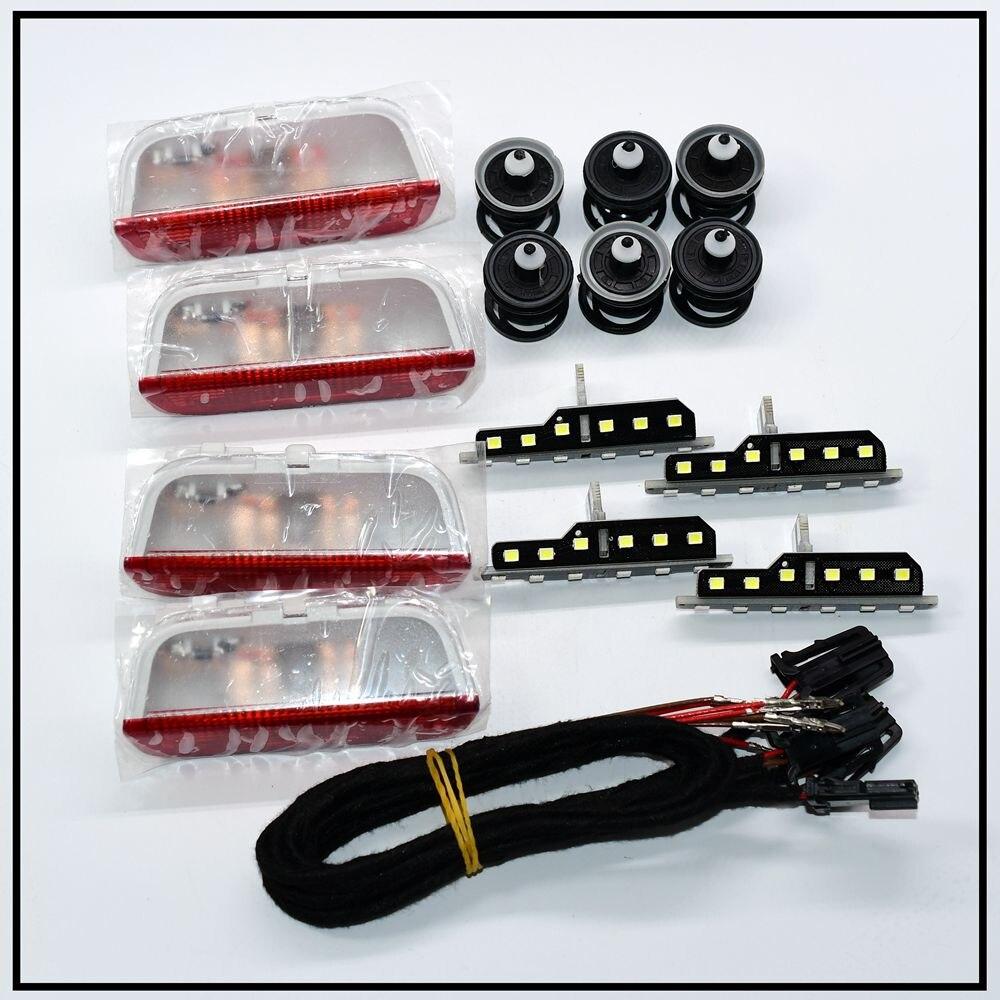 Lámparas Led de advertencia para puerta de coche, lámpara Led con clips de cable para pasadizo B6 B7 Golf 5 6 MK6 7 MK7 Tiguan CC 3AD947411 3AD 947 411