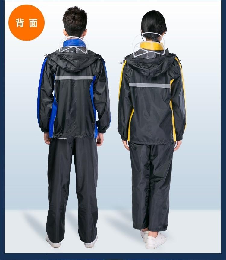 Fashion Travel Outdoors Waterproof Raincoat Cycling Electric Motorcycle Rain Coat Pvc Impermeables Jas Hujan Rain GearBW50YY enlarge