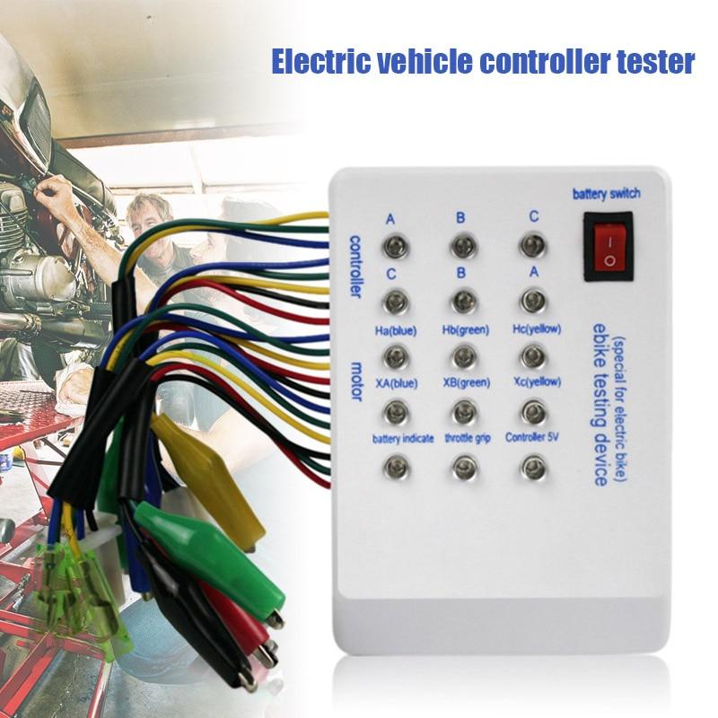 Tester kontrolera elektrycznego samochodu pasuje do 24V/36V/48V/60V/72V bezszczotkowy silnik QJS Shop