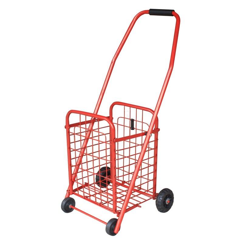 Small Shopping Cart Shopping Cart Old Portable Folding Cart Trolley Trailer Household Cart Dish Basket Iron
