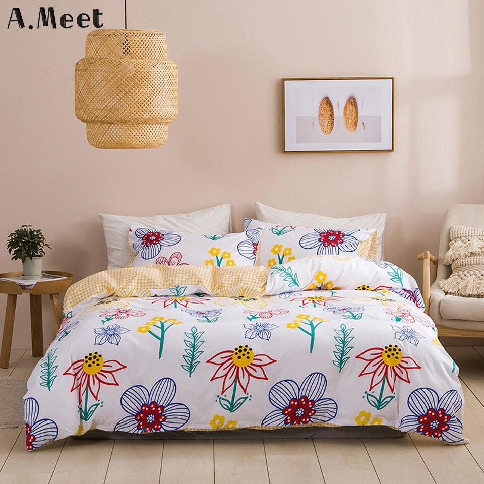 Funda de cama de flores, juego de cama de girasol, colcha azul, edredón, edredón rosa amarillo, edredón de cama, juegos de edredón sin sábana para niñas, Rey
