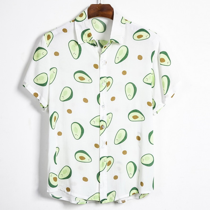 Camisa havaiana masculina, camisas para homens, casual, colorida, estampada, praia tropical, manga curta, palmeira havaiana