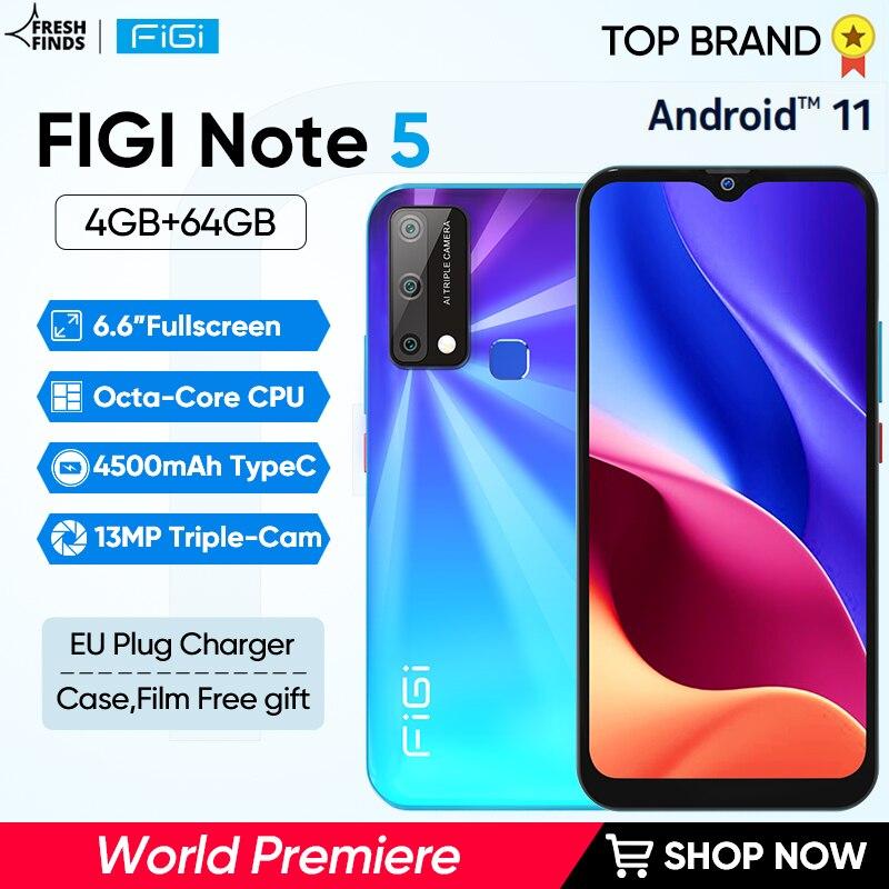 FIGI-smartphone Note 5, teléfono móvil con procesador Octa Core, batería de 4500mAh,...