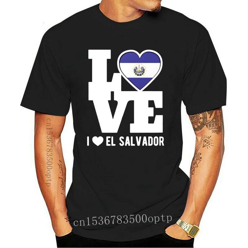 Men tshirt Love El Salvador T Shirt Patriotic Salvadoran Expat T Shirt Printed T-Shirt tees top