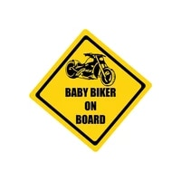 creative baby biker on board 3d stickers on car reflective car sticker cover scratches waterproof accessories pvc 12cm12cm
