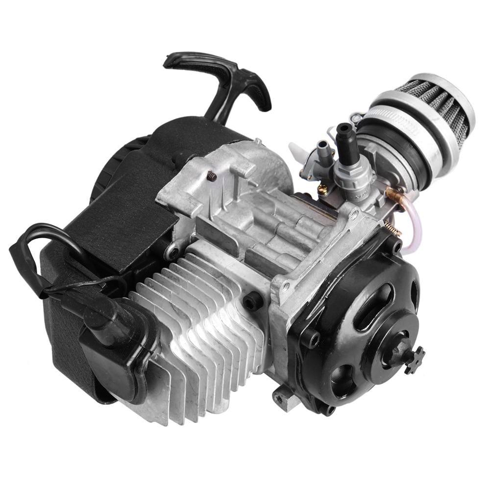 Samger mini motor de partida para bicicleta, motor de bolso com 2 tempos para moto quad dirt bike atv 4 acessório da roda