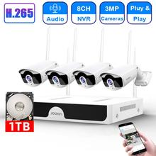 CCTV Camera System Wireless HD 8CH NVR 3MP Wifi Camera Kit Audio Video Surveillance Home Security Se
