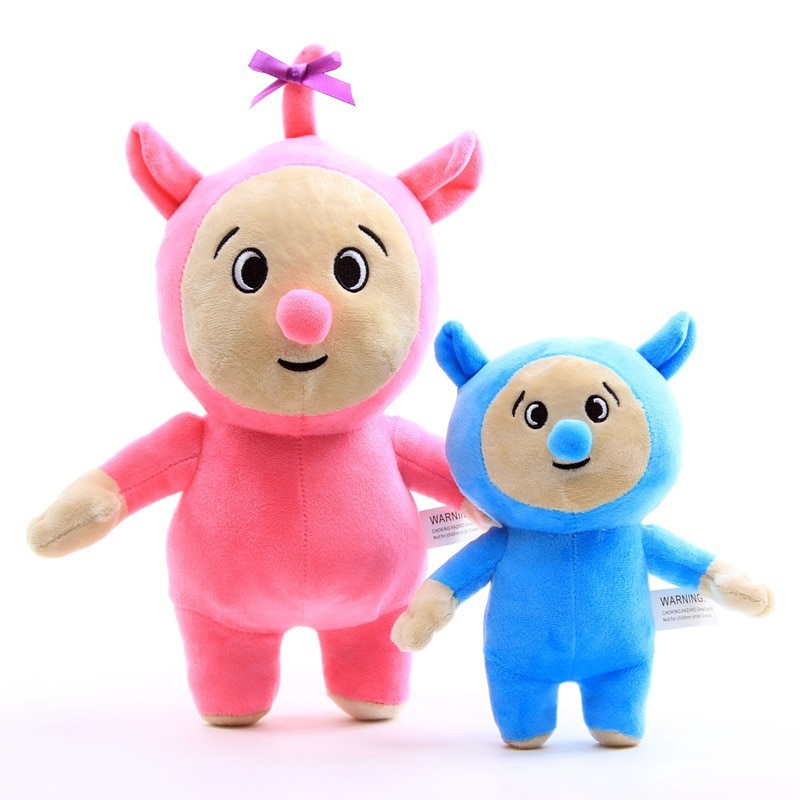 Boneco de pelúcia do billy e bam, brinquedo infantil de desenho animado para tv