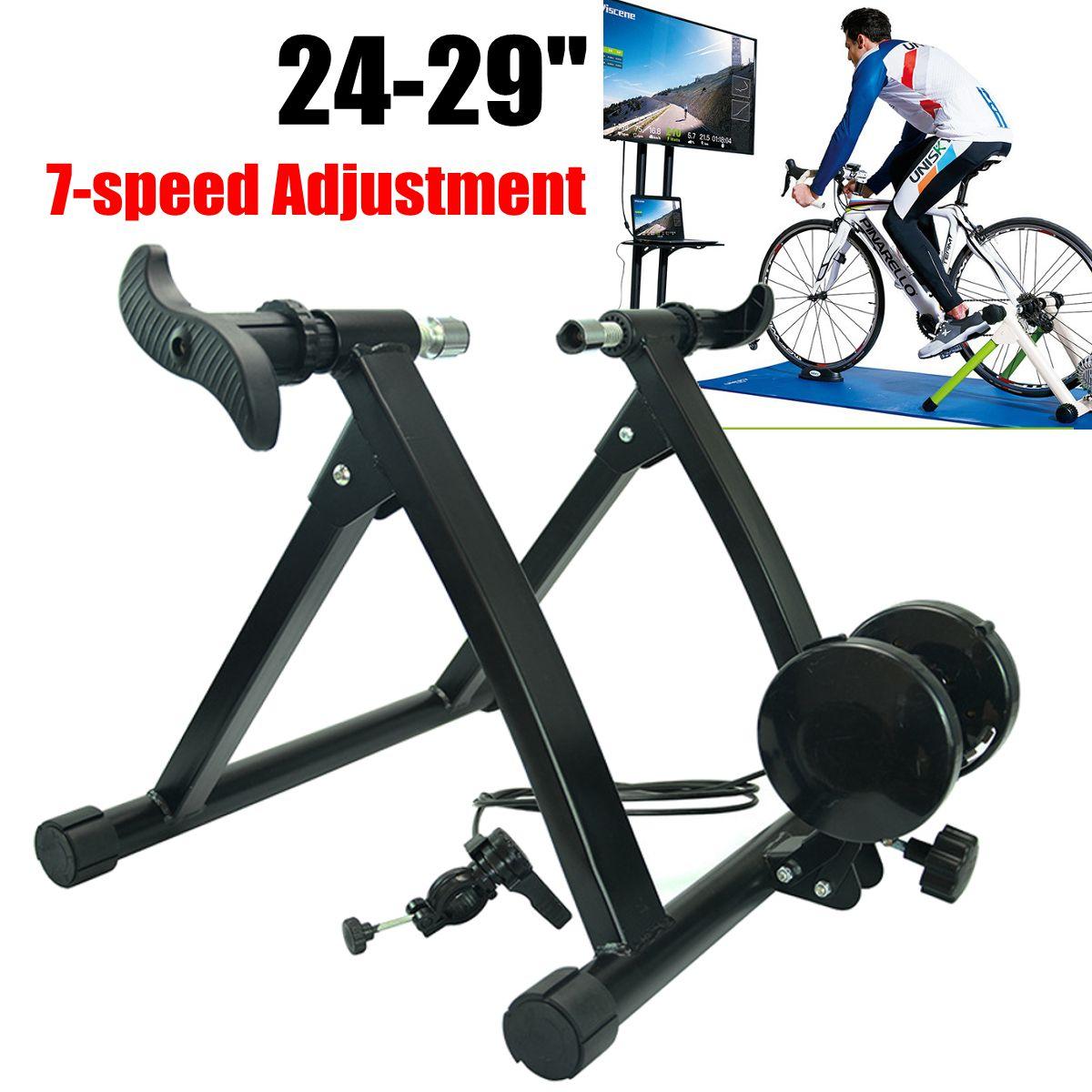 """Entrenador de bicicletas entrenamiento en casa ejercicio interior 24-29 """"7-speed ajustable bicicleta de carretera entrenador Fitness estación entrenador de ciclismo rodillo"""