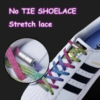 new elastic locking shoelaces flats no tie shoelace candy colors sneakers locking shoe laces kids adult women men shoes lace