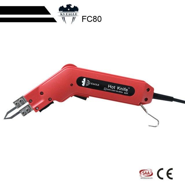 Cuchillo caliente KS EAGLE 80W, cortador térmico, Cortador manual, cuerda de tela no tejida y sellado de telas sintéticas, cuchillo de calefacción