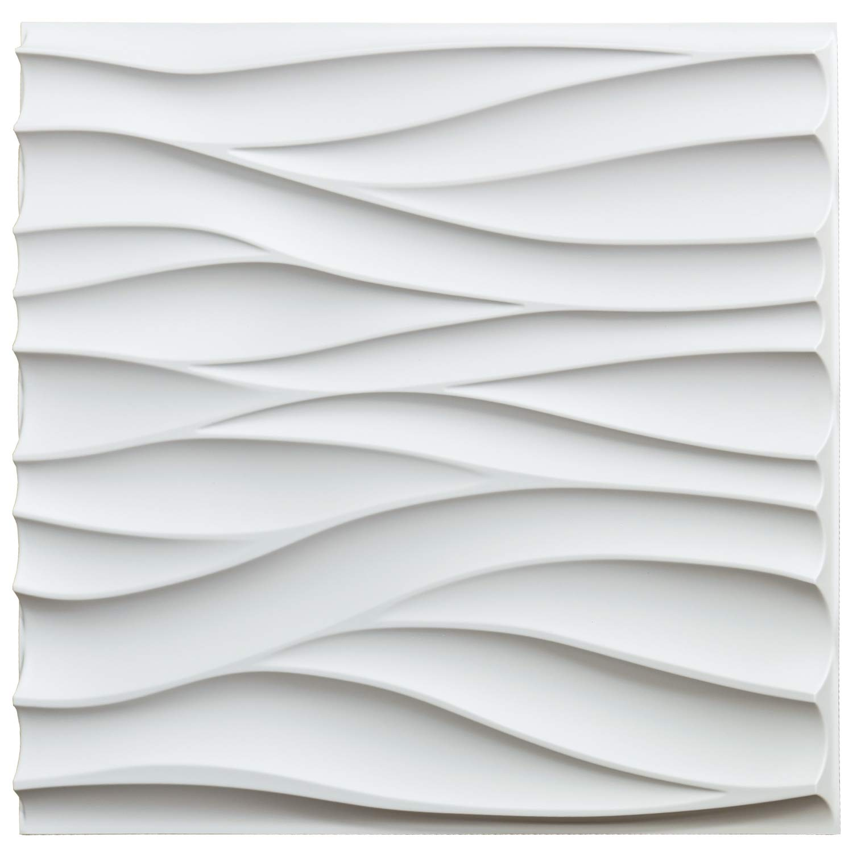 50x50 سنتيمتر البلاستيك القوام الزخرفية ثلاثية الأبعاد Wavy جدار لوحات لغرفة المعيشة غرفة نوم التلفزيون خلفية السقف حزمة من 12 البلاط