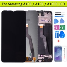 Original Für Samsung galaxy A10 A105 lcd display Touchscreen Digitizer Montage Für Samsung A105/DS A105F A105FD A105A lcd