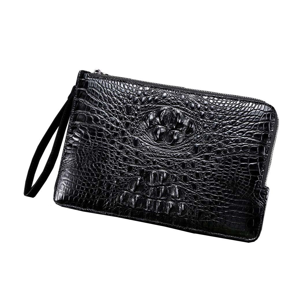 xingmengda new male clutch bags   new  crocodile  Hand bag  Hand caught  leisure  envelope bag  Men crocodile  bags