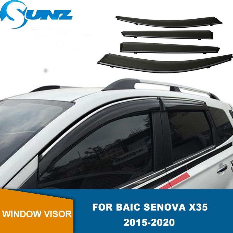 Side Window Deflector For Baic Senova X35 2016 2017 2018 2019 2020 Window Visor Weathershield Sun Rain Deflector Guards SUNZ
