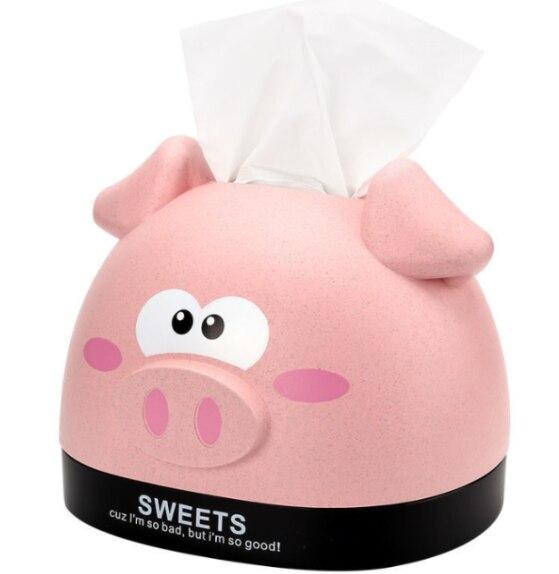 Креативная домашняя Милая мультяшная свинья искусственная бумага для рисования Универсальная коробка для хранения салфеток пластиковая