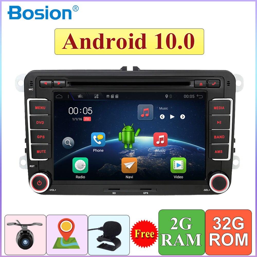 2 din Quad Core Android 10,0 forVolkswagen golf/forpolo sedán/T5/tiguan/passat/caddy radio wifi Bluetooth DAB OBD 4G