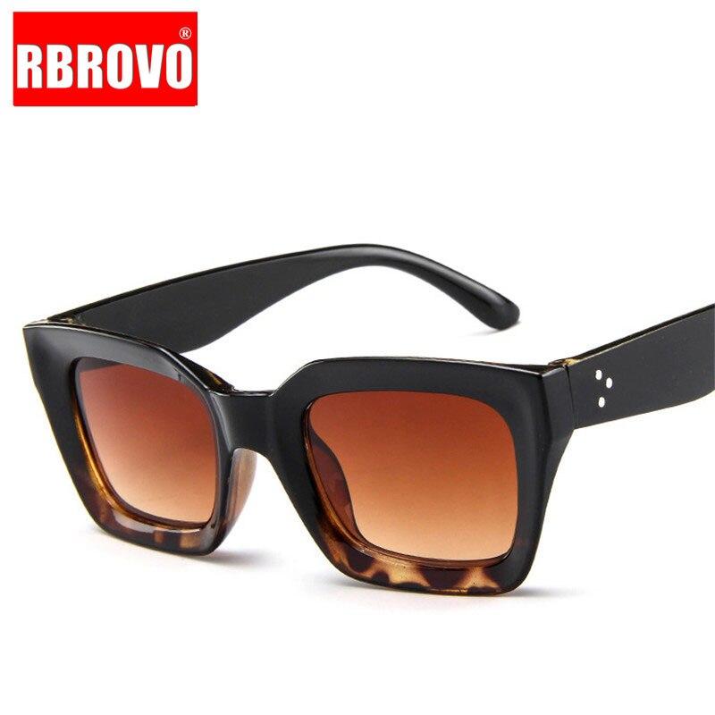 RBROVO 2020 gafas De Sol cuadradas clásicas De plástico De diseñador De marca De mujer gafas De conducción al aire libre Vintage Oculos De Sol Masculino UV400