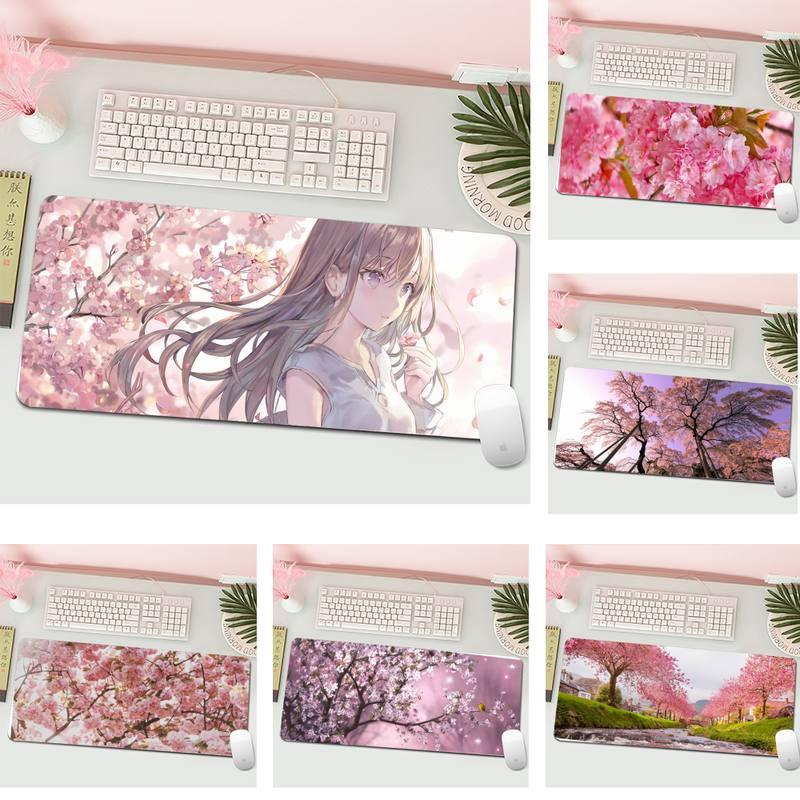 Игровые коврики «вишневый цвет», коврик для мыши, большой игровой коврик для клавиатуры, настольного компьютера, игровой коврик для мыши дл...