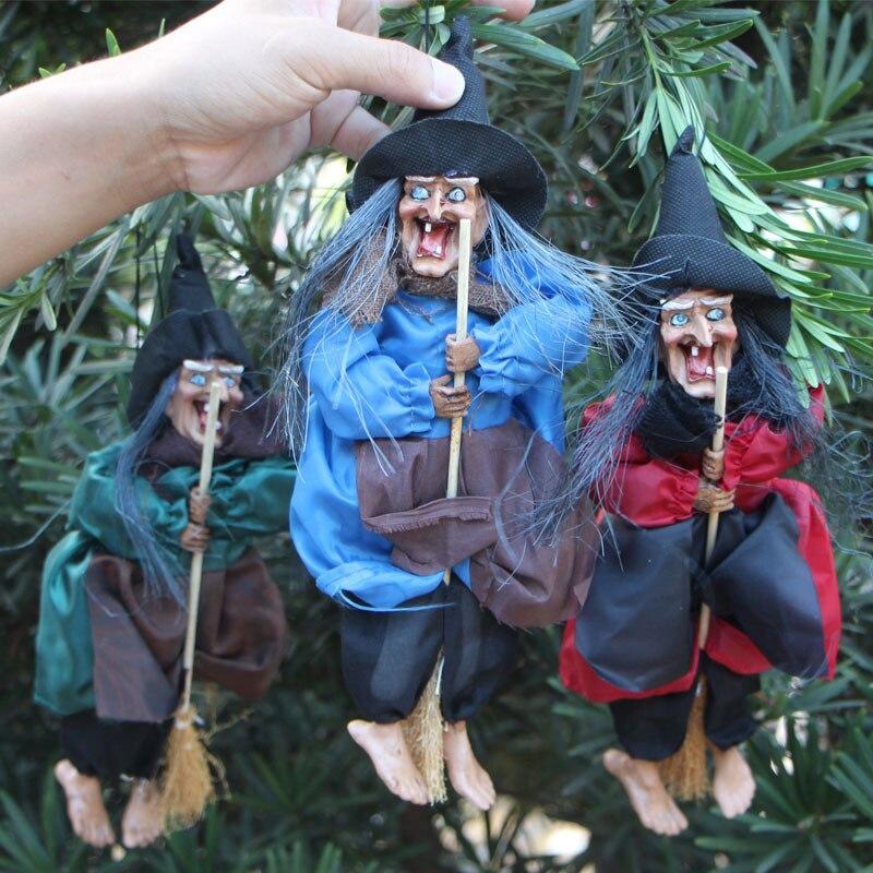 1 piezas de Control de voz bruja vacaciones DIY decoraciones de casa embrujada Bar KTV Horror bruja Halloween accesorios decorativos