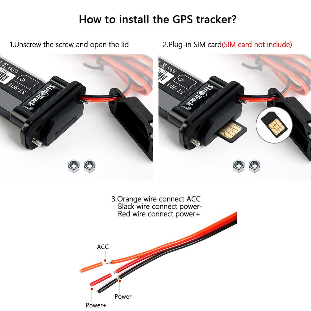 Mini Waterproof Builtin Battery GSM GPS Tracker ST-901 For Car Motorcycle Vehicle 3G Device With Online Tracking Software