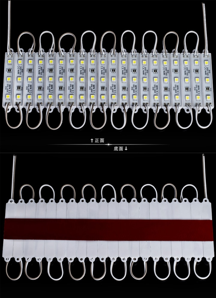 1000pcs 5050 3 Led Modules Waterproof High Power IP65 DC 12V White/Warm White RGB For Store Decoration Advertising Letter enlarge