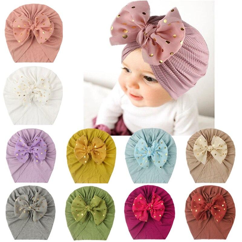 Европейские и американские новые детские шапки-тюрбаны с резьбой, детские шапки Baotou с бантом, детские тонкие шапки для девочек