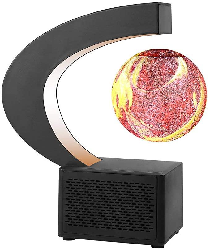 Magnetic Levitation Floating World Map Globe Light Lamp with Colored LED Lights C Shape Base for Kids & Teens Home & Office Desk enlarge