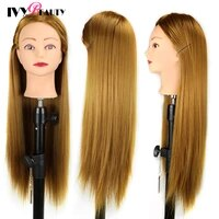 head dolls for hairdressers high temperature synthetic blonde hair mannequin head training head for braid hairdressing styling